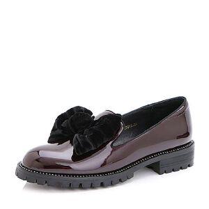 Belle/百丽2017春时尚可爱幻彩超纤女鞋19701AM7