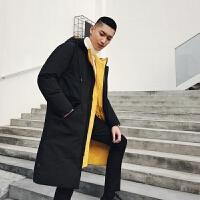 男装 两面穿 时尚加厚保暖中长款棉袄 亮色棉衣外套