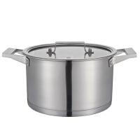 炊大皇 304不锈钢汤锅 22cm德式汤锅 无涂层汤锅 电磁炉通用WG16362