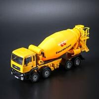 合金工程车模型 水泥搅拌车罐车2岁3岁儿童玩具仿真车 凯迪威搅拌机