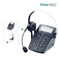 【当当热销】北恩(HION)VF560电话耳机套装 45度斜面设计,高清晰的语音通信,麦克风防噪音,解放双手,保护听力