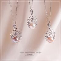 掌柜家好货!12~13mm大颗淡水珍珠纯银吊坠项链 鉴定证书TQ0/0/01