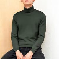 Lee Cooper韩版男士套头高领毛衣时尚修身潮流百搭舒适针织衫男
