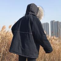 毛领冬装加厚棉衣外套情侣装网红同款男士冬季棉袄子2018新款