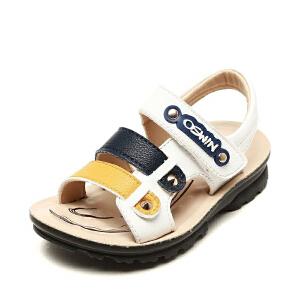 鞋柜/奥思文男童鞋 夏季休闲儿童凉鞋时尚铆钉装饰舒适百搭沙滩鞋
