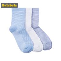 【每满200减100】巴拉巴拉童装男童棉袜儿童袜子夏装2018新款透气中筒袜三双装男孩