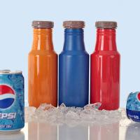 500ML双层不锈钢真空保温杯 翻盖可乐瓶杯子大容量车载可乐杯子携学生可乐杯男女个性潮流水杯子随行杯 红色