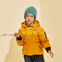 【2件3折:260】巴拉巴拉旗下巴帝巴帝19年冬中大童儿童潮酷连帽羽绒服男童短款