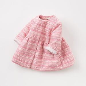 【夹棉】davebella戴维贝拉秋冬装新款女童宝宝加厚外套DB8713