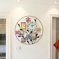 相框现代简约时尚大挂表时钟创意钟表客厅石英钟静音挂钟