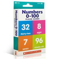 英文原版 Scholastic Flash Cards -- Numbers 0-100 学乐卡片:数字0-100 儿童