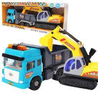 汽车模型玩具带声光工程车儿童玩具惯性车模翻斗车 大力搅拌车 儿童玩具车