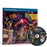 现货 寻梦环游记 英文原版 绘本 Coco Read-Along Storybook 迪士尼独立阅读 绘本有声读物 皮