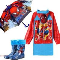 学生儿童雨衣雨鞋套装雨具男童宝宝保暖雨靴中大童雨披雨伞 X是大码数,实际是5X X