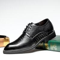 美国苹果APPLE2016秋冬新款正装皮鞋英伦鳄鱼纹男士皮鞋 AP-1605