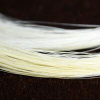 演奏级84CM二胡马尾毛二胡配件二胡弓马尾备用胡琴弓毛