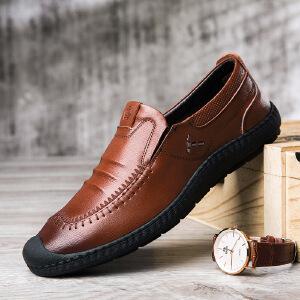 套脚皮鞋男真皮休闲鞋男鞋子豆豆鞋驾车鞋男新品男士手工工作鞋子男运动鞋男8822JLF