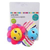 新生儿手腕带摇铃手表带 婴儿响铃袜子 宝宝早教玩具