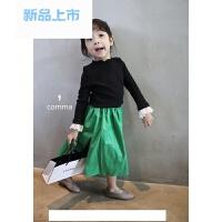 DD MELON 韩国童装 2018春夏 女宝时髦淑女名媛风花边打底T恤