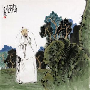 《得闲图》蔡子君 中国美协会员山东漫协理事R1910(画心发货)