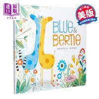 【中商原版】Kristyna Litten:Blue and Bertie 长颈鹿布鲁与贝蒂 低幼亲子故事绘本友谊 精装