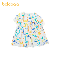 【2件6折价:55.1】巴拉巴拉宝宝公主裙女童连衣裙夏婴儿裙子洋气韩版2021新款涂鸦甜