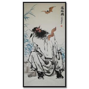 广东画院副院长、国家一级美术师、中国美协会员,广东省美协常务理事 伍启中《接福图》