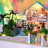 来自星星的你diy小屋手工拼装建筑房子模型玩具大型别墅男生礼物