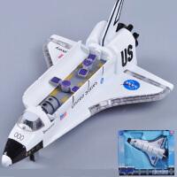 航天飞机模型 儿童合金玩具飞机声光合金回力哥伦比亚穿梭机