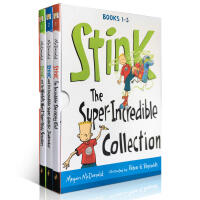 英文原版绘本Stink The Super-Incredible Collection1-3桥梁书