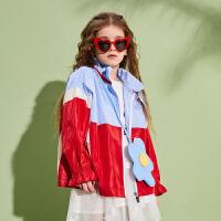 【春新品2件4折:139】巴拉巴拉旗下巴帝巴帝女童外套儿童短款风衣2020春季新款中大童潮上衣女