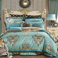 伊迪梦家纺 仿真丝豪华大提花绣花多件套 绗缝夹棉家纺大规格床上用品六件套八件套十件套GZ206