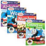 英文原版绘本Thomas Wipe Clean Write 幼儿园 书写入门 可擦写 alphabet numbers