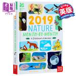 【中商原版】英国国民信托 2019年自然年鉴 英文原版 National Trust 2019 Nature Mont
