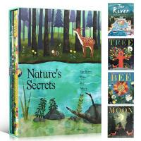 英文原版绘本 Nature's Secrets 4本平装盒装塑封 River,Tree,Bee,Moon 亲子阅读大自