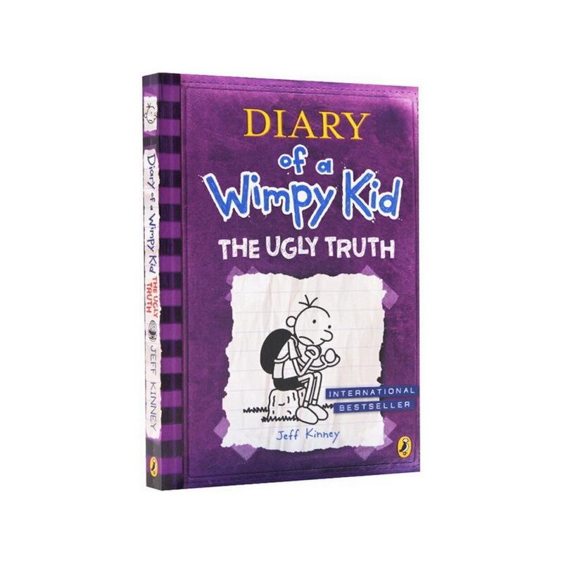 小屁孩日记5英文原版小说入门级 The Ugly Truth 5 Diary of a Wimpy Kid 漫画跑酷游戏爆笑幽默小说读物小说