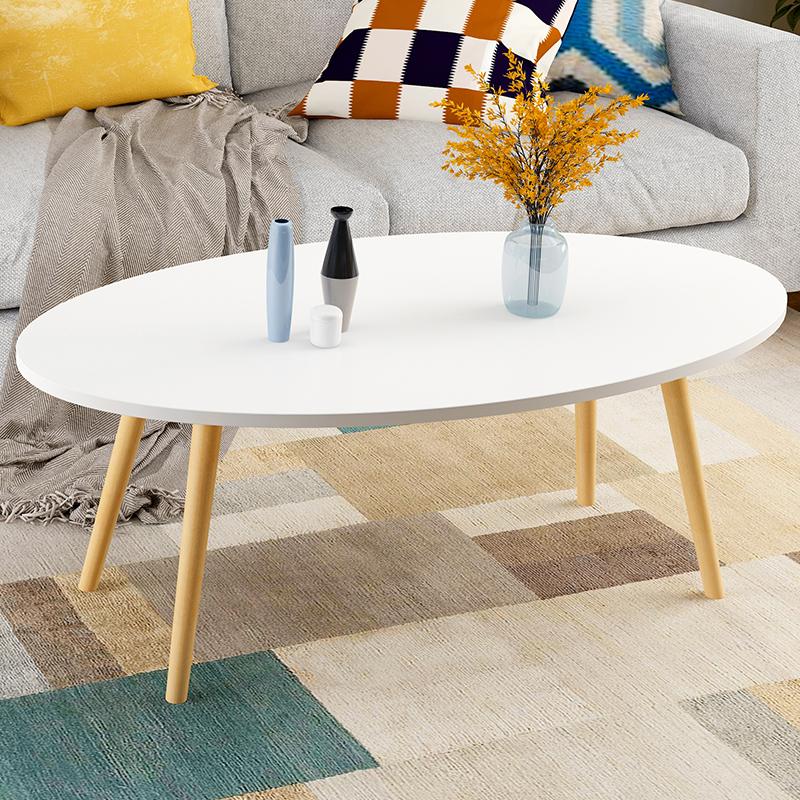 亿家达北欧客厅茶几现代简约小户型茶桌实木腿茶台多功能吃饭桌子