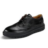 冬季韩版百搭小皮鞋英伦商务正装男士休闲男鞋布洛克青年潮鞋
