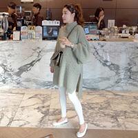 打底衫高领孕妇毛衣孕妇装秋冬季新款韩版中长款长袖上衣潮妈针织