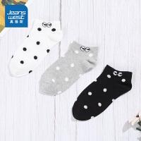 [3折到手价:22.9元]一包3双 真维斯女装 2019年秋装新款 舒适波点船袜