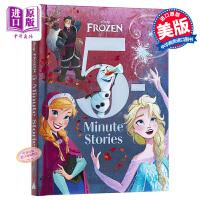 【中商原版】英文原版 5分钟故事系列 Disney 冰雪奇缘 绘本 4~7岁