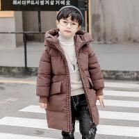 儿童棉袄男中大童韩版2018新款棉衣男童冬季休闲中长款外套潮