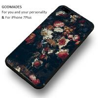 巴洛克宫廷花卉苹果7plus手机壳iphone6s复古油画个性创意艺术潮