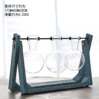创意办公桌面摆件花器装饰品小清新水培容器绿萝植物透明玻璃花瓶