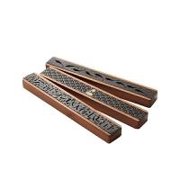 创意香线香盒家用沉檀香炉烧香盒线香插香座卧香炉茶道