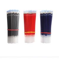 中性笔芯碳素水笔芯0.5mm子弹头0.38mm全针管黑红色蓝色