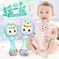 婴儿玩具3新生幼儿6牙胶8手摇铃4益智早教7男女孩12个月宝宝0-1岁