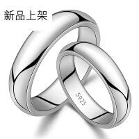 厚版925银光面情侣戒指对戒男女原创意订结婚求婚情人节礼物送男女朋友【一只价】