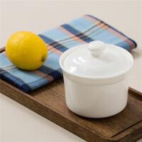 【当当自营】SKYTOP斯凯绨 碗碟陶瓷骨瓷炖盅250ml 2件装 白瓷