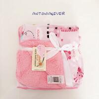 新生儿毯子法兰绒婴儿午睡毯宝宝空调盖毯珊瑚绒推车毛毯儿童秋冬